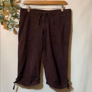 PRANA canvas walking shorts medium